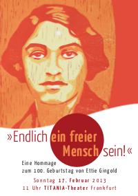 Ettie Gingold zum 100. Geburtstag - Thumbnail vom Flyer (PDF; 1.6 MB)