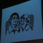Peter und Ettie Gingold (Illustration Thilo Weckmüller; Werkstatt uah!; Mainz)